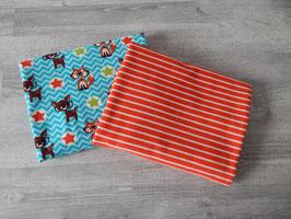 Stoffpaket Nerdy by Nature / Streifen rot-weiß
