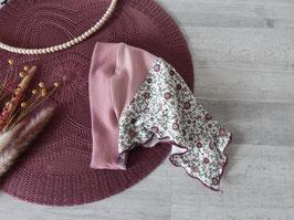 Kopftuch Vintage Blumenfeld rosa