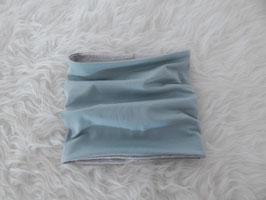 Schlauchschal dusty mint (altmint) / hellgrau meliert