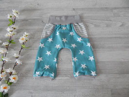 Gr. 86 Summer Pants Sterne mint-weiß
