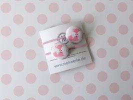 Haargummis Füchse rosa auf rosa
