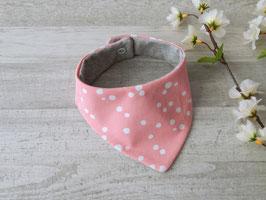 Halstuch Dots rosa / weiß