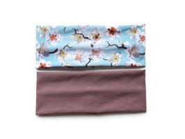 Stirnband grade Kirschblüten / altmauve