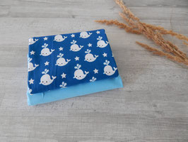 Stoffpaket Wale blau / uni