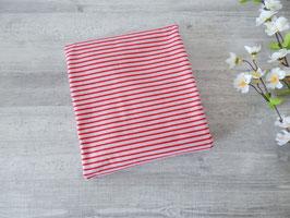Reststück Streifen rosa-rot