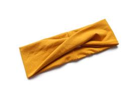 Stirnband / Haarband Twist ocker
