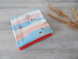 Stoffpaket Feen / Minidots rot-weiß
