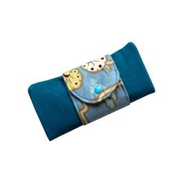 Geldbörse XXL petrol/blau