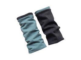 Armstulpen zum Wenden meliert rauchblau / anthrazit