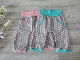 Gr. 92 Summer Pants Sterne hellgrau / rosa oder mint