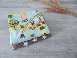 Stoffpaket Lillestoff / Sterne taupe