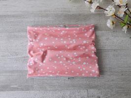 Schlupfschal Dots rosa / weiß