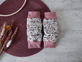 Beinstulpen Vintage Blumenfeld rosa