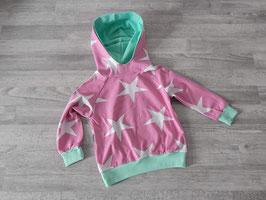 Hoodie Sterne rosa / weiß Gr. 86/92