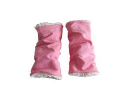 Armwendestulpen rosa/Teddyfell