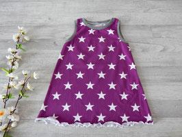 Größen 74, 80 und 86 - Trägerkleid lila Sterne