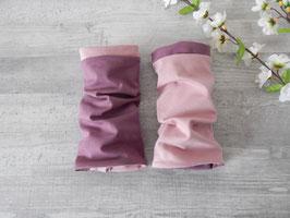Armstulpen zum Wenden aubergine (mauve) / altrosa