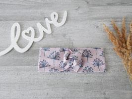 Stirnband Knoten Pusteblumen rosa