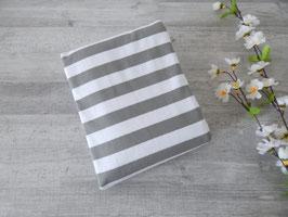 Reststück Blockstreifen grau-weiß