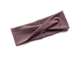 Stirnband / Haarband Twist altmauve
