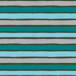 Baumwolljersey Coool Boards Streifen Kombi 0,5m x 1,55m