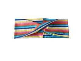 """Stirnband / Haarband """"Twist"""" bunte Streifen"""