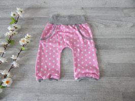 Gr. 86 Summer Pants Sterne rosa-weiß