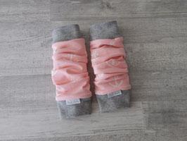 Beinstulpen Anker rosa
