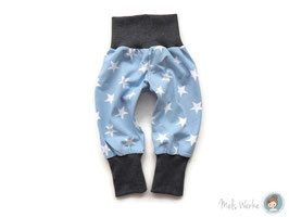 Mitwachshose Sterne hellblau/weiß Gr. 62 und 74