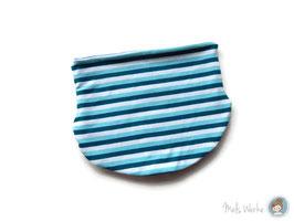 Halssocke Streifen blau