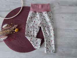 Leggings Vintage Blumenfeld rosa