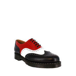 English Brogue Shoe Navy, Red & White