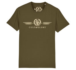 Cult & Glory Shirt - Winged Jeep Green