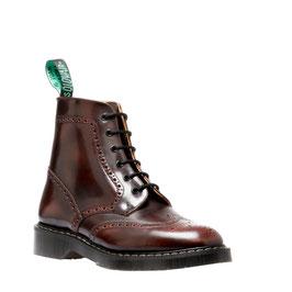 Brogue Boot Burgundy Rub-off