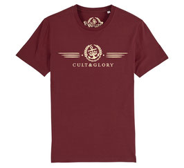 Cult & Glory Shirt - Winged Oxblood Red