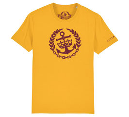 Cult & Glory Shirt - Crown Anchor Sunrise Yellow