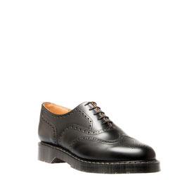 English Brogue Shoe Black Hi-Shine