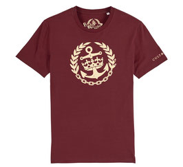 Cult & Glory Shirt - Crown Anchor Oxblood Red