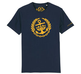 Cult & Glory Shirt - Crown Anchor Navy Blue