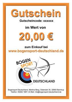 Gutschein für Bogensportkurse bei Bogensport Deutschland
