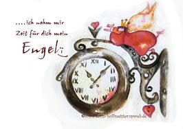 JOYFUL-ANGEL Klappgrußkarte/ Uhr♥
