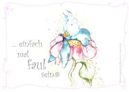 JOYFUL-ANGEL Klappgrußkarte/Faul sein♥