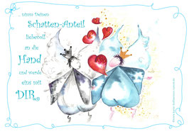 JOYFUL-ANGEL Klappgrußkarte/Schatten♥