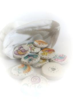 ...15 kunterbunte ENGEL-Runen im weißen Säckchen♥