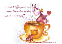 JOYFUL-ANGEL Klappgrußkarte/Kaffeepause♥