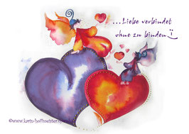 JOYFUL-ANGEL Klappgrußkarte/ Liebe verbindet♥