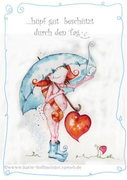 Joyful -Kobold Klappgrußkarte/ beschützt♥