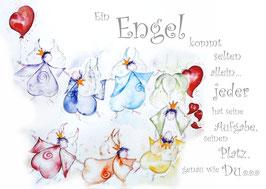 JOYFUL-ANGEL Klappgrußkarte/  gemeinsam♥