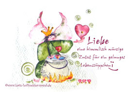 JOYFUL-ANGEL Klappgrußkarte/Lebenssüppchen♥