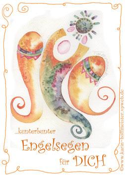 ENGEL-Klappgrußkarte für persönliche Engelsteine♥
